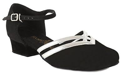 Blue Bell Shoes HANDMADE Women's Ballroom Salsa Wedding Competition Dance Shoes Sara Cuban Heel
