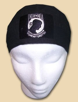 Headwrap Mia - Flagline POW-MIA (embroidered) - EZDanna Headwraps