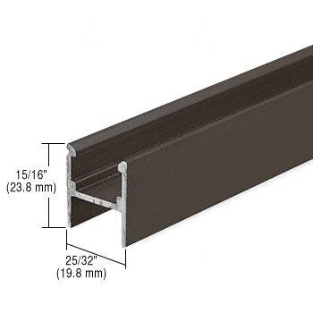 CRL Bronze Series 3608 Meeting Rail for Sliding Screen Doors - 108'' long