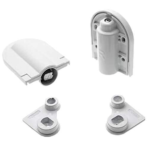 SODIAL 2Pcs Adjustable Table Hinges Door Lift Support Connector Heavy Hinge for Dresser Dressing Table Furniture Hardware,White