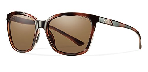 Smith Optics Colette Sunglass: White Fade Tortoise/Brown Carbonic TLT Lenses