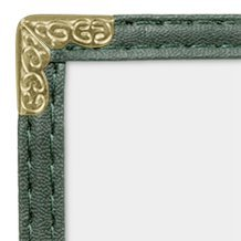 JR SALES CORP, VAL-B814-GREEN, 25 Pack of Menu Covers, Double Panel, 4 Views, Holds 8.5'' x 14'' Inserts, Green Leatherette Trim, Gold Decorative Corners, 10 Gauge Crystal Clear, *Restaurant Quality*