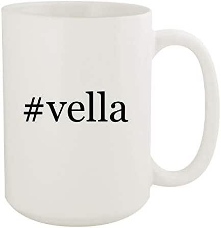 #vella - 15oz Hashtag White Ceramic Coffee Mug