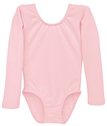 Dancina Leotard Classic Long Sleeve Little Girls' First Gymnastics Ballet Class Dress 5 Ballet Pink]()