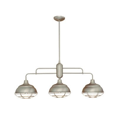 Neo-Industrial 3 Light Kitchen Pendant Finish: Satin Nickel (Nickel Satin Light Island)
