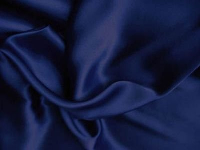 1 X 100% Polyester Silky Satin Charmeuse Navy 60 Inch Fabric By the Yard - Fabric 100 Polyester