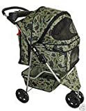 Cheap BestPet 3-Wheel Pet Stroller, Classic Camouflage