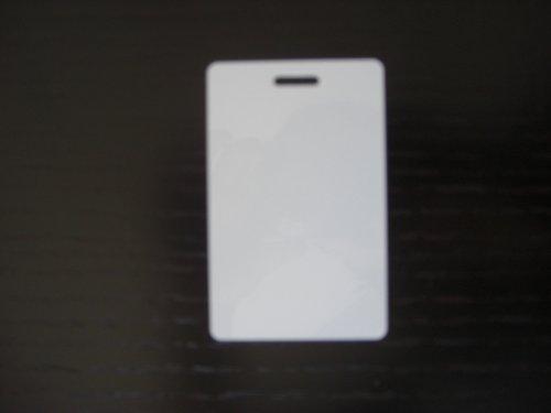 100 Blank White PVC Plastic Photo ID Slot Punch Card 30Mil