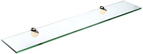 Brass Peacock (Spancraft Glass Peacock Glass Shelf, Brass, 8 x 36)