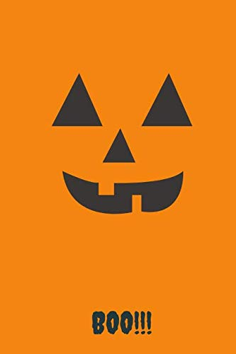 Boo!!!: Halloween Spooky Face Themed Notebook]()