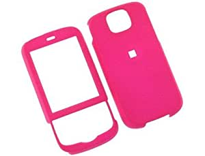 Rubber Coated Plastic Phone Cover Case Hot Pink For HTC Shadow II