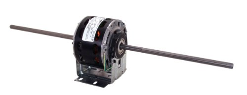 A.O. Smith 93V1 5.0-Inch 1/10 HP, Open Enclosure, Double Shaft, 10 by 3/8 by 10 Shaft, Sleeve Bearing General Purpose Shaded Pole Motor ()