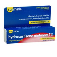 (Sunmark Hydrocortisone Ointment 1% Maximum Strength, 1 oz by Sunmark (Pack of 3))