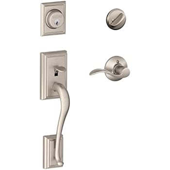 Schlage Addison Single Cylinder Handleset And Accent Lever