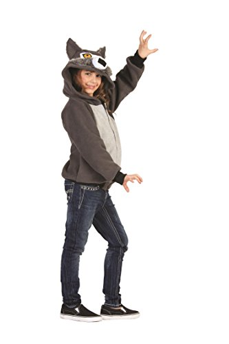RG Costumes 'Funsies' Willie Wolf Hoodie, Child Medium/Size 8-10 ()