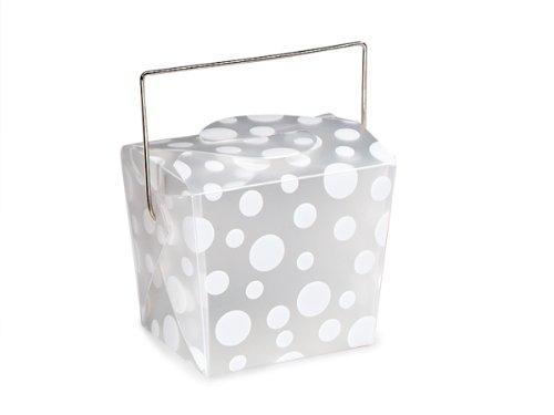 ls - White Dots Take Out Boxes Small 2 - 3/4x2x2 - 1/2
