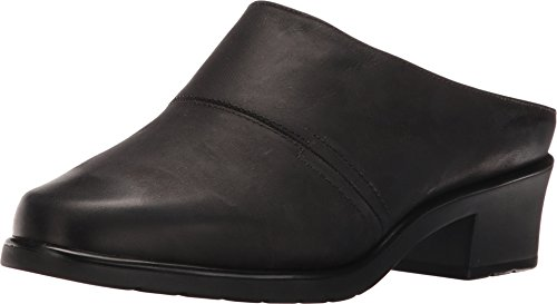 Walking Cradles Women's Caden Black Distressed Leather Clog/Mule