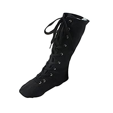 6c322c81ee8f2e Women s Canvas Cosplay Dance Boots Black