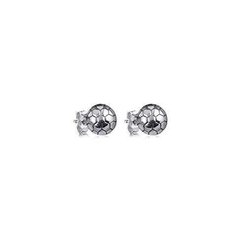 - Dayna Designs Silver Stud Earrings - Soccer