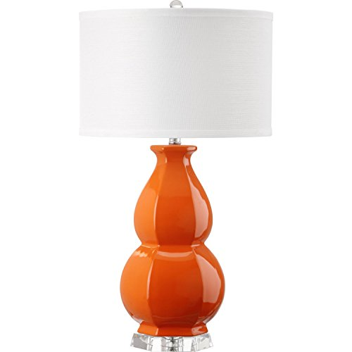 Safavieh Lighting Collection Juniper Orange Orange 27.5-inch Table Lamp