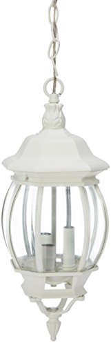 Acclaim 5160TW Chateau Collection 3-Light Outdoor Light Fixture Hanging Lantern, Textured White