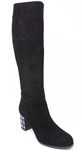 BOBERCK Valentina Collection Women's Suede Heeled Boots Black outlet amazon cheapest price for sale outlet get to buy V8fsflFuK0