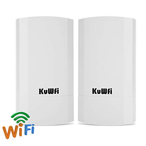 2-Pack Wireless Access Point CPE Router Kit 300Mbps Indoor and Outdoor Point-to-Point Wireless Bridge Supports 1KM Transmission Distance Solution for PTP/PTMP Application (WDS) with LED Display