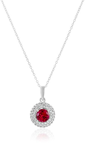 Rhodium-Plated-Sterling-Silver-Created-Gemstone-Earrings-and-Pendant-Necklace-Set