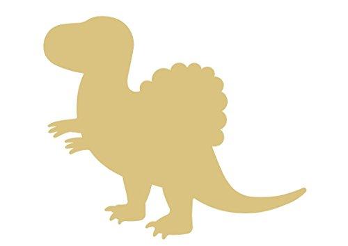 Spinosaurus Dinosaur Unfinished Wood Shape Cutout Variety Sizes USA Made Nursery Decor (6