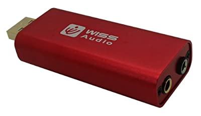 Wiss Audio USB DAC with Headphone Amplifier - Retail Packaging - Red