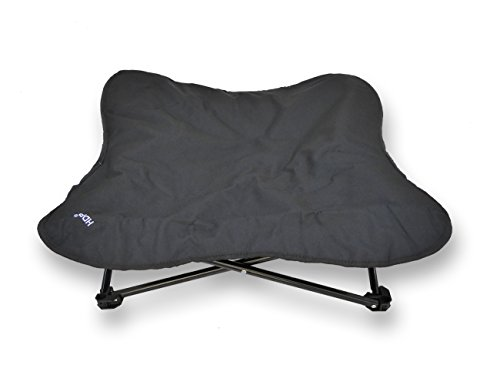 HDP Elevated Padded Napper Cot Space Saver Pet Bed Color:Black Size:Medium Review