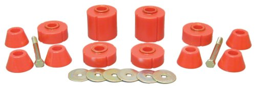 Prothane 7-104 Red Body and Standard Cab Mount Bushing Kit - 12 Piece