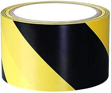 SACONELL Ruban adh/ésif de s/écurit/é 70 mm /× 20 m Noir//jaune