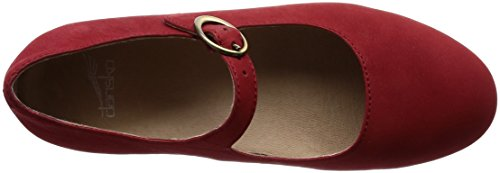 Dansko Flats Nubuck Red Milled Women's Linette UrFwqZU