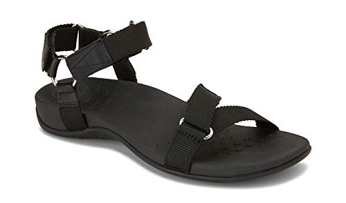 - Vionic Women's Rest Candace Backstrap Sandal - Ladies Sandals with Concealed Orthotic Arch Support Black 6.5 W US
