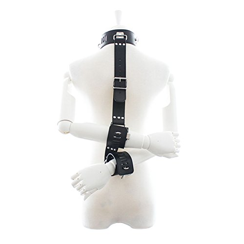 Sexy Collars Bondage Collar with Hand Cuffs Fetish S&M Slave Neck Cuffs Restraints Sex Products for Couples Sex Toys Women Men Red