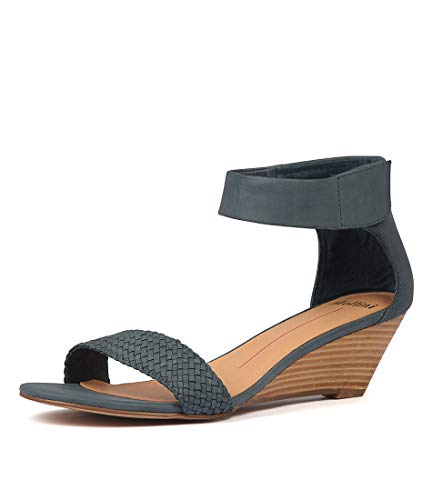 Wedges Womens MOLLINI Leather Blue Marti Heels Summer Medium Shoes 5rY8qr