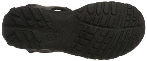 Dockers by Gerli 36li015-200230, Sandalias de Punta Descubierta para Hombre Negro (Asphalt 230)