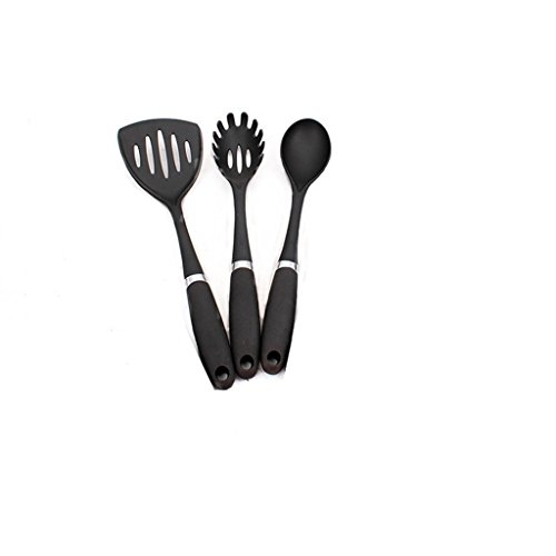 Pasta Forks+Spatula+Spoon(Set of 3)Nylon Utensils Convenient Pasta Partners