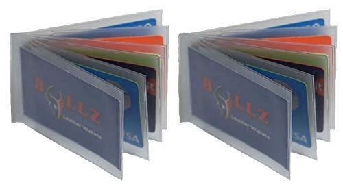(Set Of 2 Heavy Duty Vinyl Credit Card ID Holder Wallet Insert MADE IN USA)
