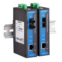 MOXA IMC-21A-M-ST Industrial 10/100BaseT(X) to 100BaseFX Media Converter, Multi Mode, ST Connector, -10 to 60 °C