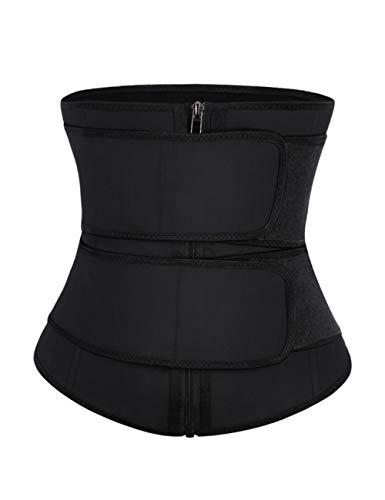 Feelingirl Women Waist Trainer Underbust Corset Trimmer Slimming 2 Belt Body Shaper L