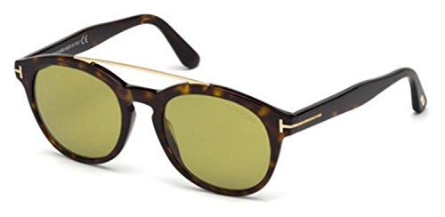 Tom Ford FT0515 52N Shiny Gradient Havana Newman Round Sunglasses Lens - Tom Ford Newman