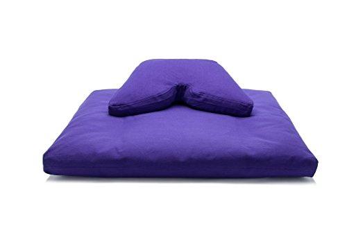 Purple Kapok Regular Lift Cosmic Cushion & Cotton Batting Zabuton Meditation Cushion Set by Sage Meditation