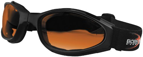 Bobster Eyewear Crossfire Goggles , Distinct Name: Amber Lens, Gender: Mens/Unisex, Primary Color: Black BCR003 Crossfire Folding Goggles