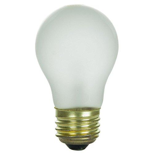 Sunlite 60 Watt A15 Appliance Light Bulb, Medium Base, Frost