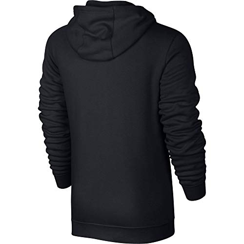 Men's Nike Sportswear Club Full Zip-Up Hoodie, Fleece Hoodie for Men with Paneled Hood, Black/Black/White, XL - Hood Hoody Jacket
