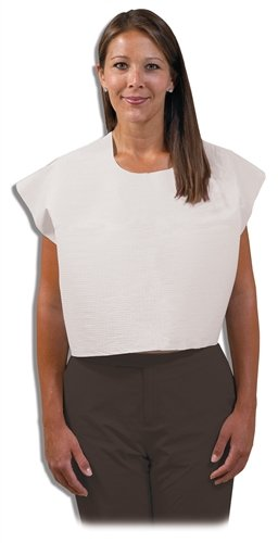 Mammography Exam Capes - Disposable, 30'' x 21'', White, Case of 100 Capes by Colortrieve (Image #1)