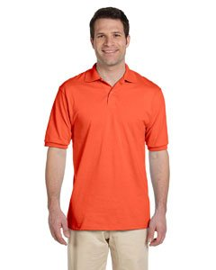 Jerzees Men's Spot Shield Short Sleeve Polo Sport Shirt, Burnt Orange, Small