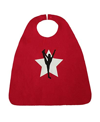 Cheerleader Cape for Competition Gift or Party Favor (red/white/black) -